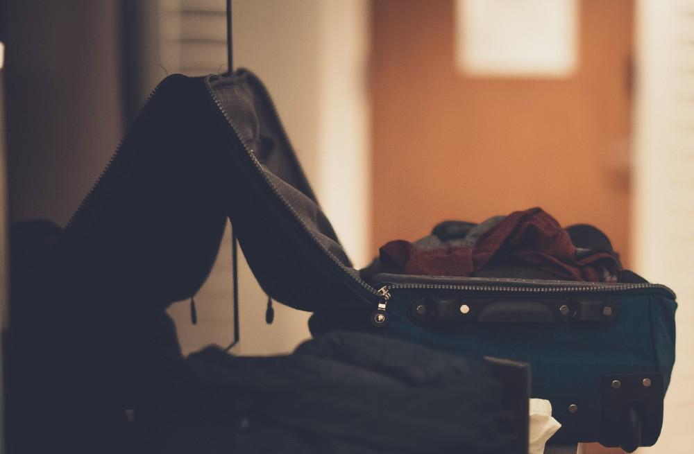 Photo of open suitcase